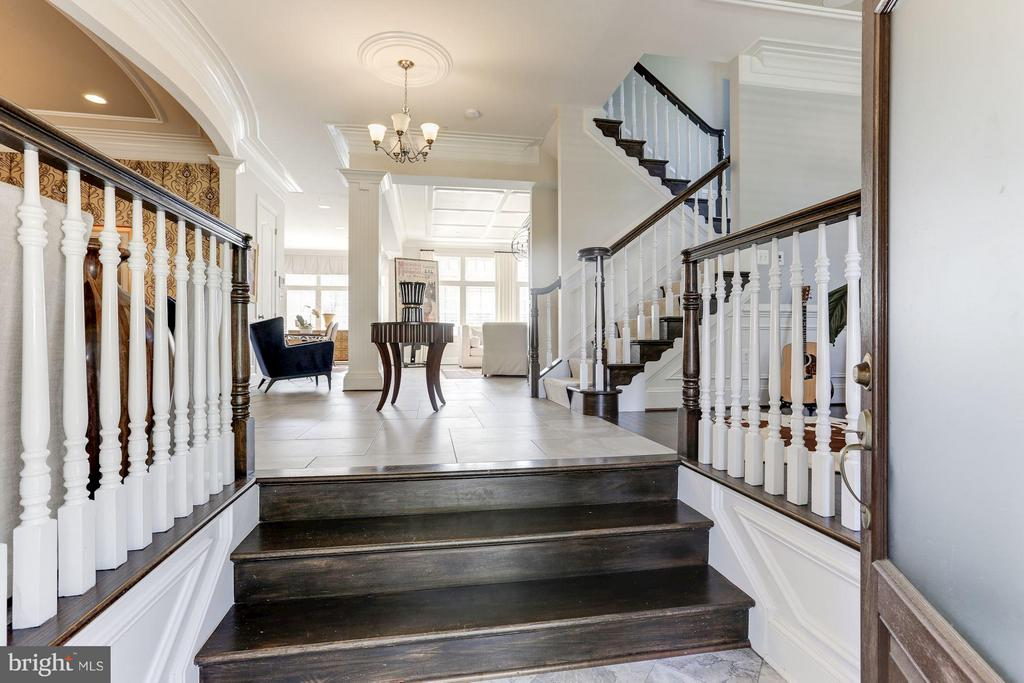 At entry you are greeted with  grand floor plan - 164 CROWN FARM DR, GAITHERSBURG