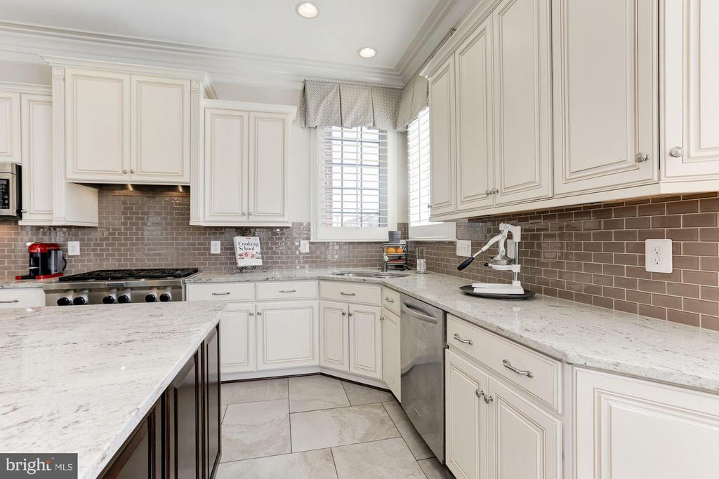 Plenty of counter space and cabinetry - 164 CROWN FARM DR, GAITHERSBURG