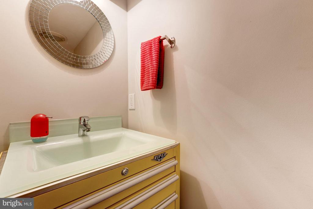 Lower Level Powder Room - 8506 WOODHAVEN BLVD, BETHESDA