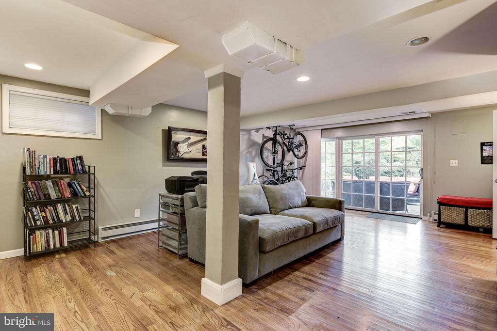 Lower-level Family Room - 6343 UTAH AVE NW, WASHINGTON