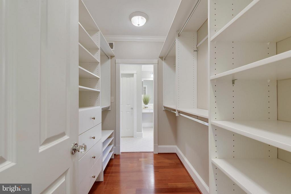 One of two closets in master bedroom. - 2702 24TH ST N, ARLINGTON