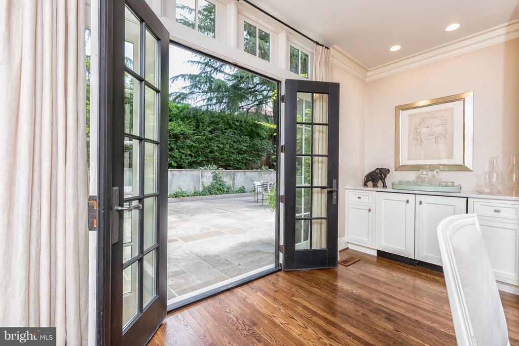French Doors to Rear Terrace - 2435 TRACY PL NW, WASHINGTON