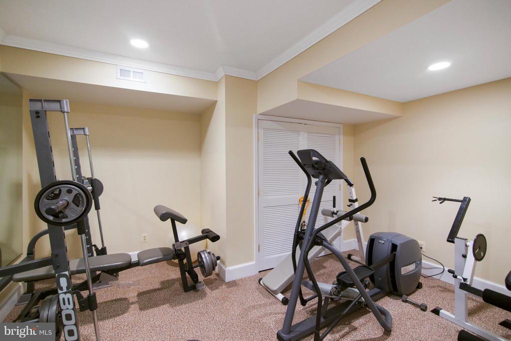 Lower Level Fitness Room - 13300 FOXDEN DR, ROCKVILLE
