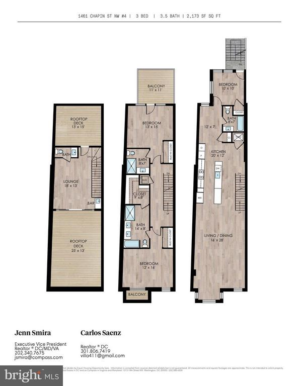 Floor plans - 1461 CHAPIN ST NW #4, WASHINGTON