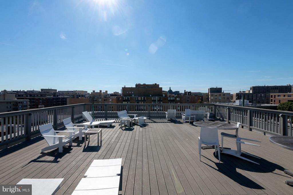 Community roof deck with gorgeous views - 1514 17TH ST NW #115, WASHINGTON