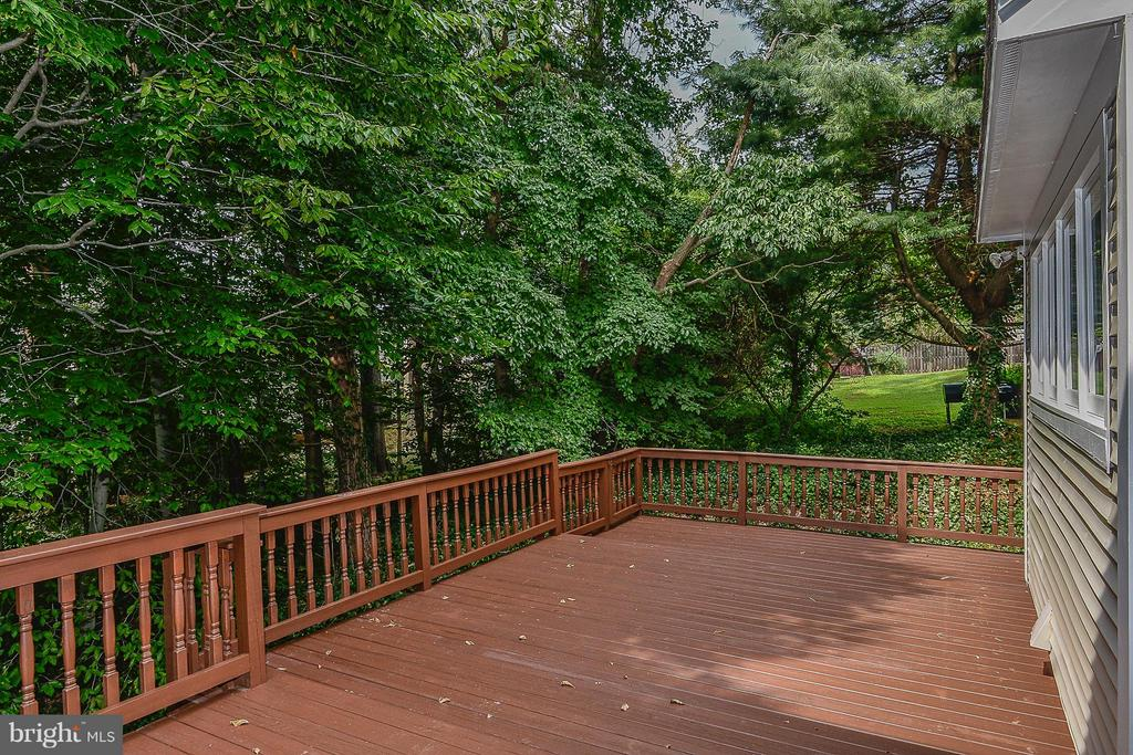 Large Rear Deck - 4308 OAK HILL DR, ANNANDALE