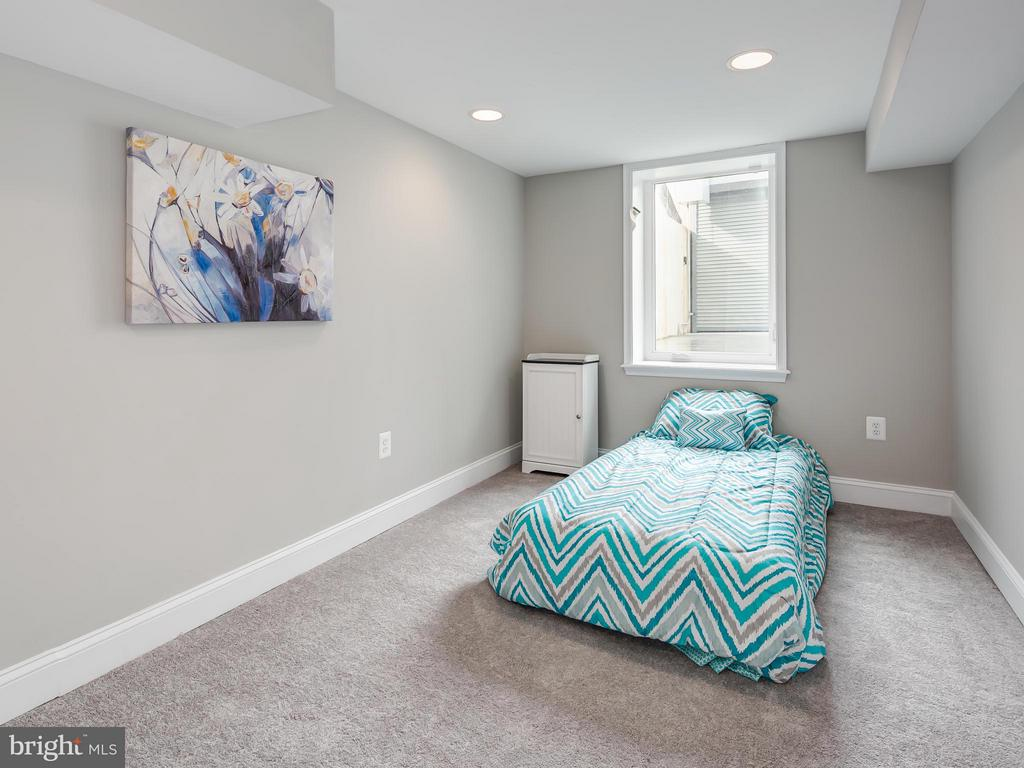 Large, light filled, basement bedroom. - 1118 HOLBROOK ST NE, WASHINGTON