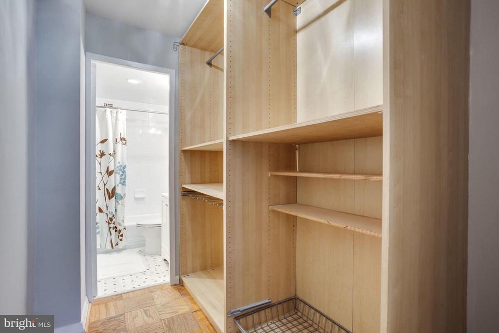 Walk-in closet with so much room for storage! - 5406 CONNECTICUT AVE NW #407, WASHINGTON