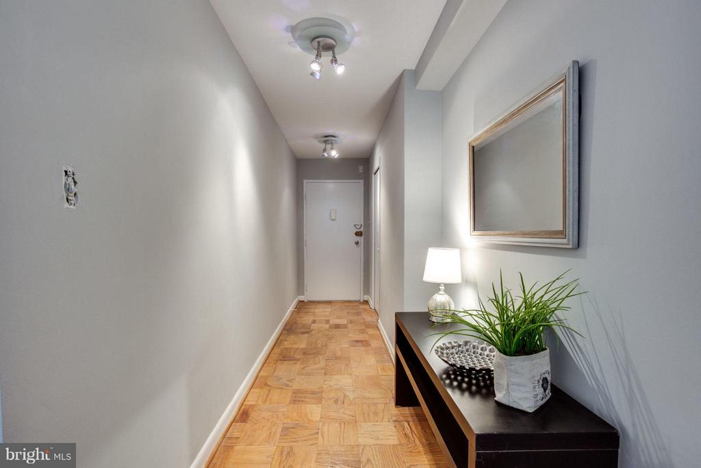 Large coat/storage closet is located in the entry. - 5406 CONNECTICUT AVE NW #407, WASHINGTON