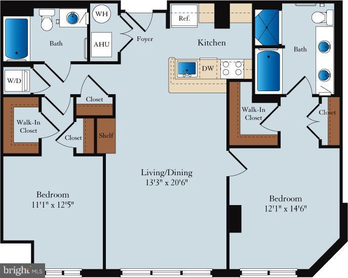 Floor Plan - 1020 N HIGHLAND ST #222, ARLINGTON
