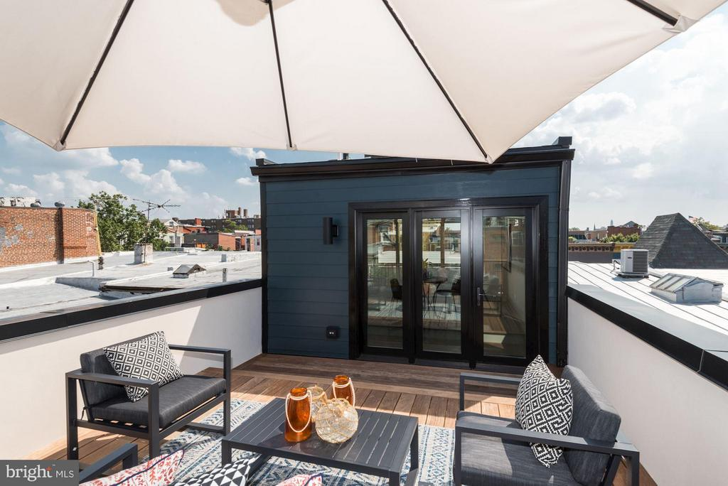 Private Roof Deck - 915 FRENCH ST NW, WASHINGTON