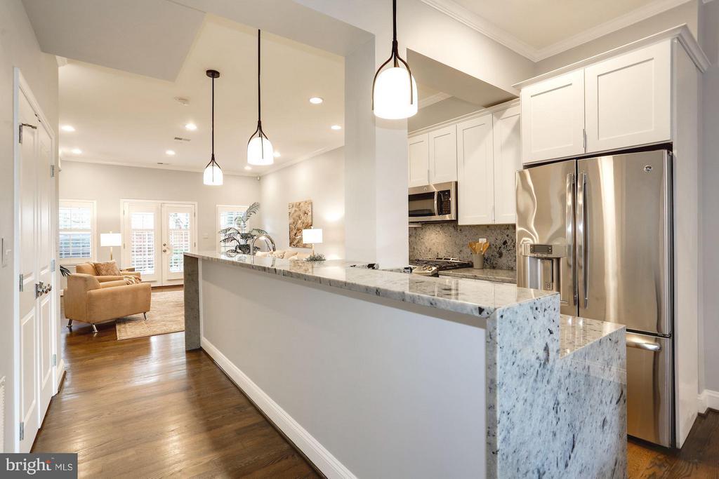Updated contemporary kitchen with breakfast bar - 915 9TH ST NE, WASHINGTON