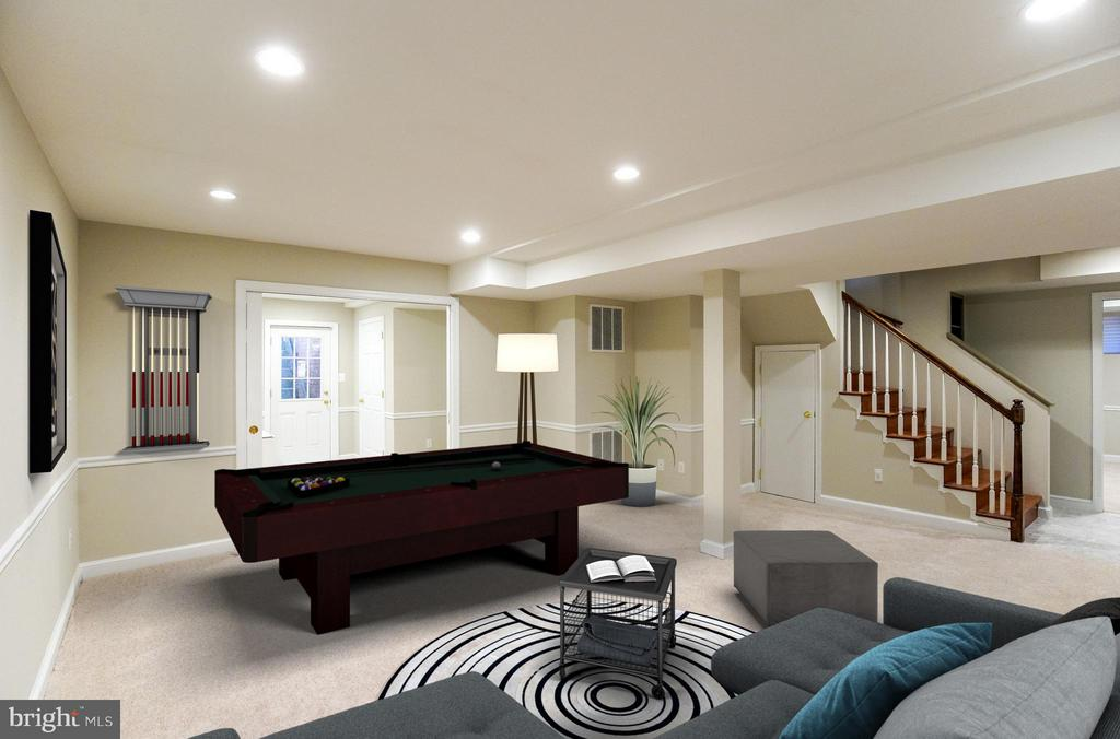 Recreation Room and Bedroom #4 - 11101 ARDWICK DR, NORTH BETHESDA