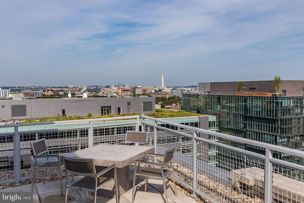 Rooftop views of the Washington Monument. - 1025 1ST ST SE #613, WASHINGTON