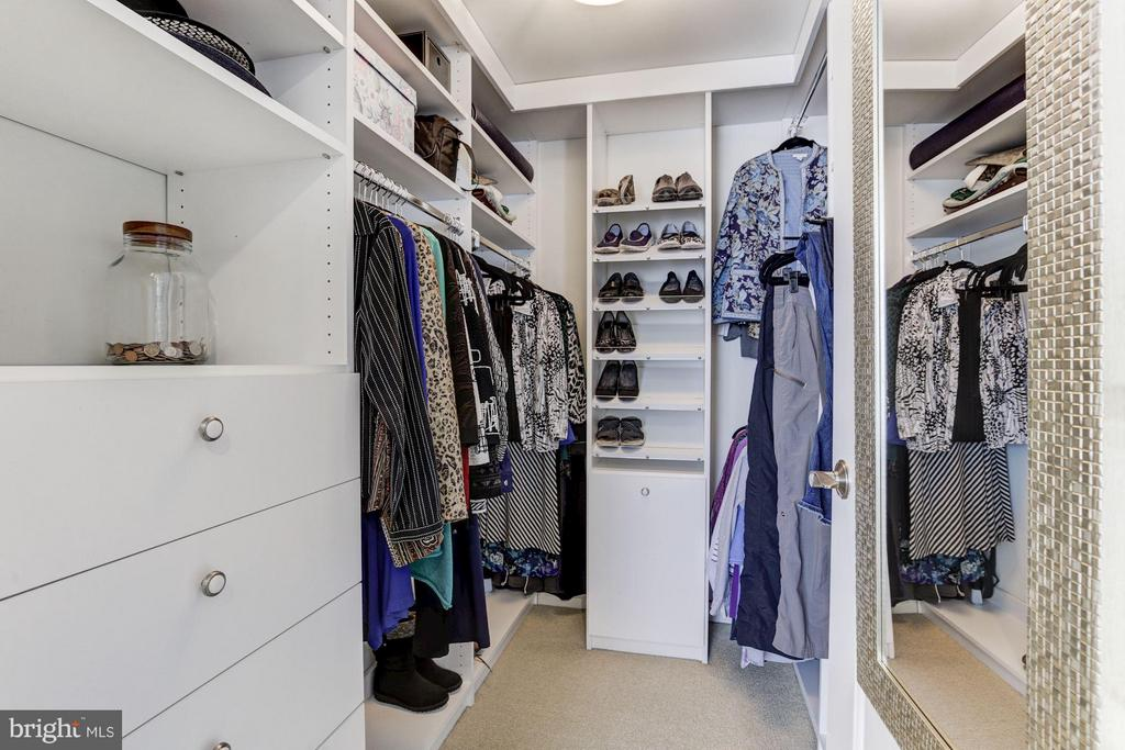 Walk-in closet w/ custom built-ins. - 1025 1ST ST SE #613, WASHINGTON