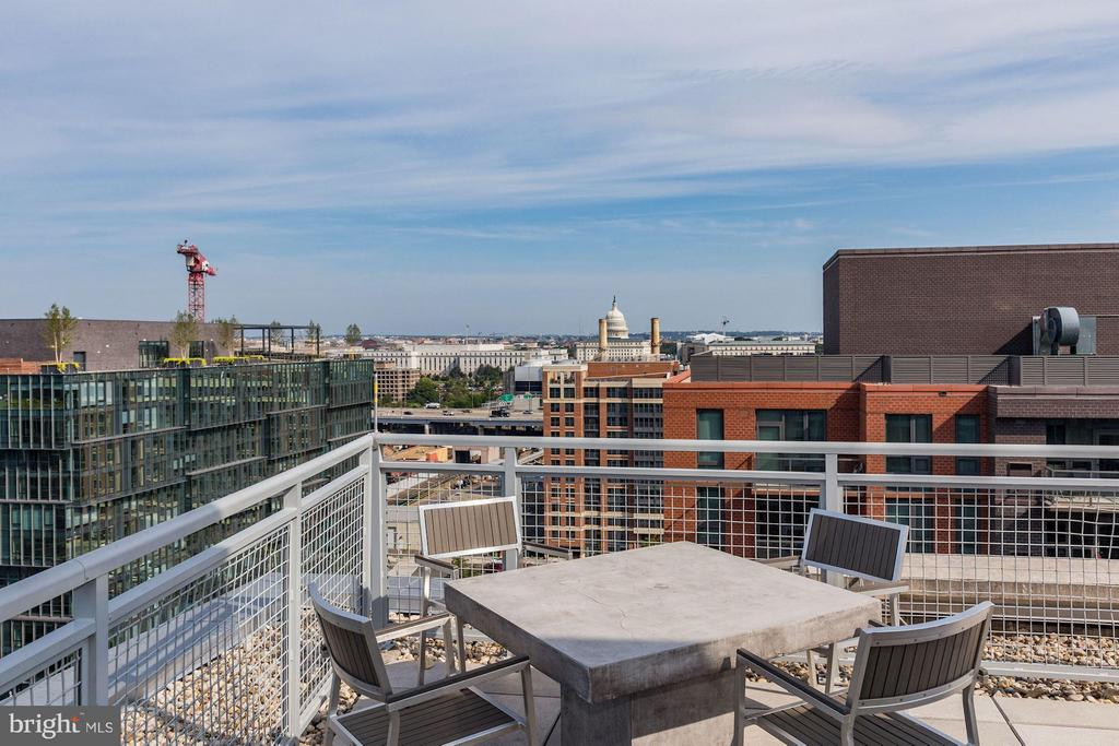 Rooftop view of the Capitol. - 1025 1ST ST SE #613, WASHINGTON