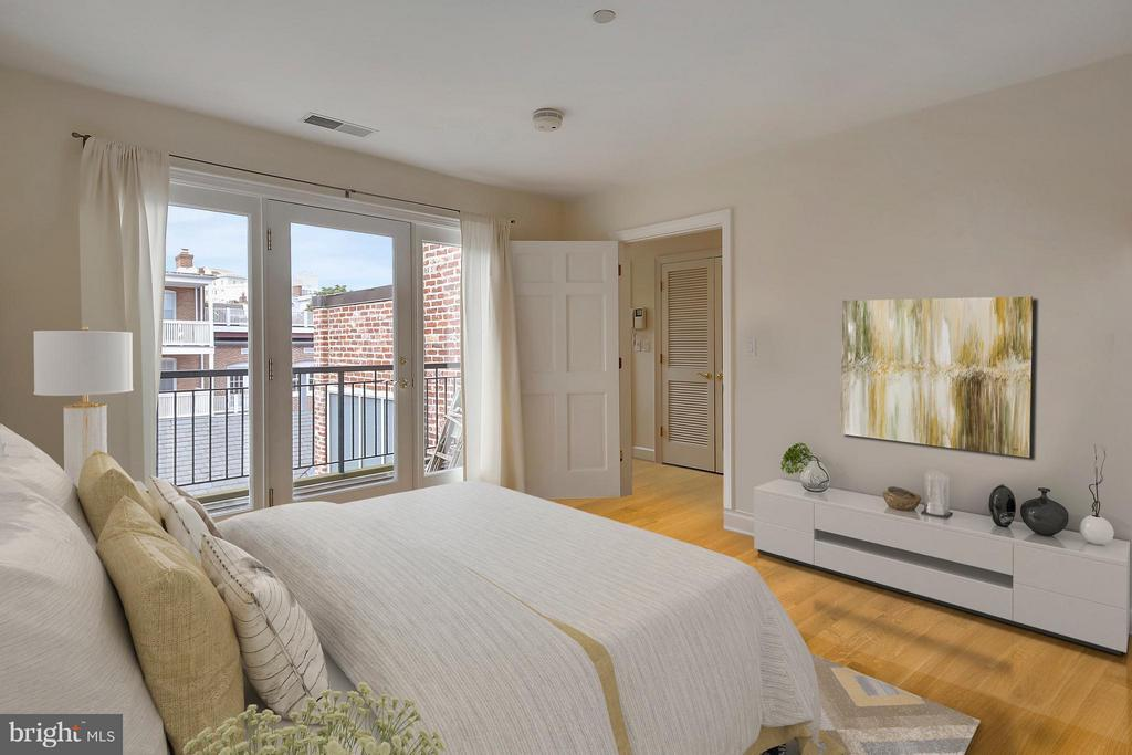 Floor to Ceiling Windows and Doors to Balcony - 2125 S ST NW #PH1, WASHINGTON