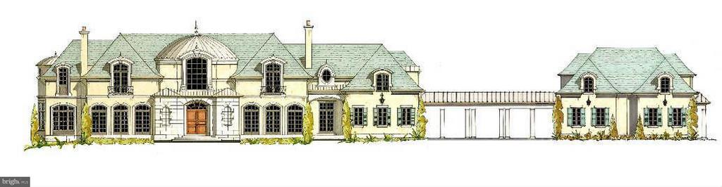 Front Elevation - Including Guest House - 1171 CHAIN BRIDGE RD, MCLEAN