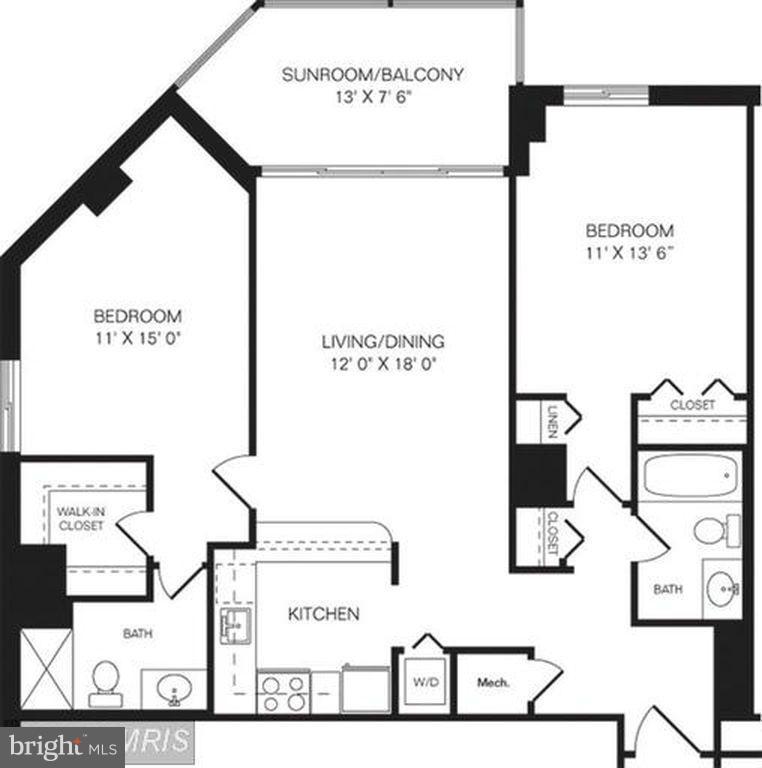 Floor Plan - 1001 N RANDOLPH ST #419, ARLINGTON