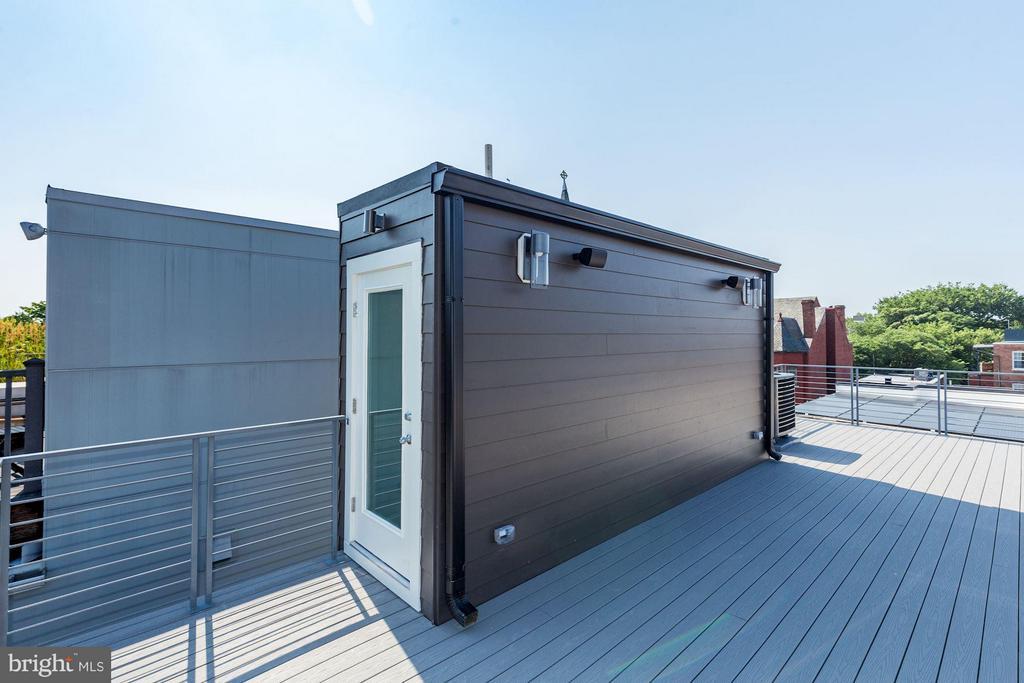 Private 410 sqft Roof Deck - 517 Q ST NW #2, WASHINGTON