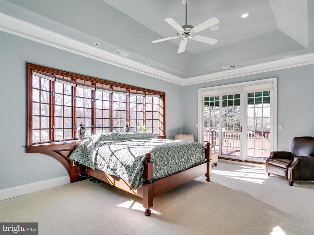 MASTER BEDROOM W PRIVATE DECK - 10207 HUNTER VALLEY RD, VIENNA