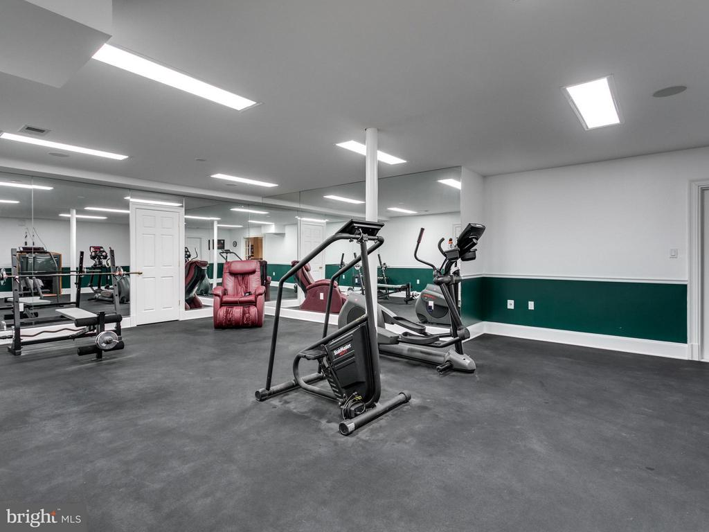 EXERCISE ROOM ON LOWER LEVEL - 10207 HUNTER VALLEY RD, VIENNA