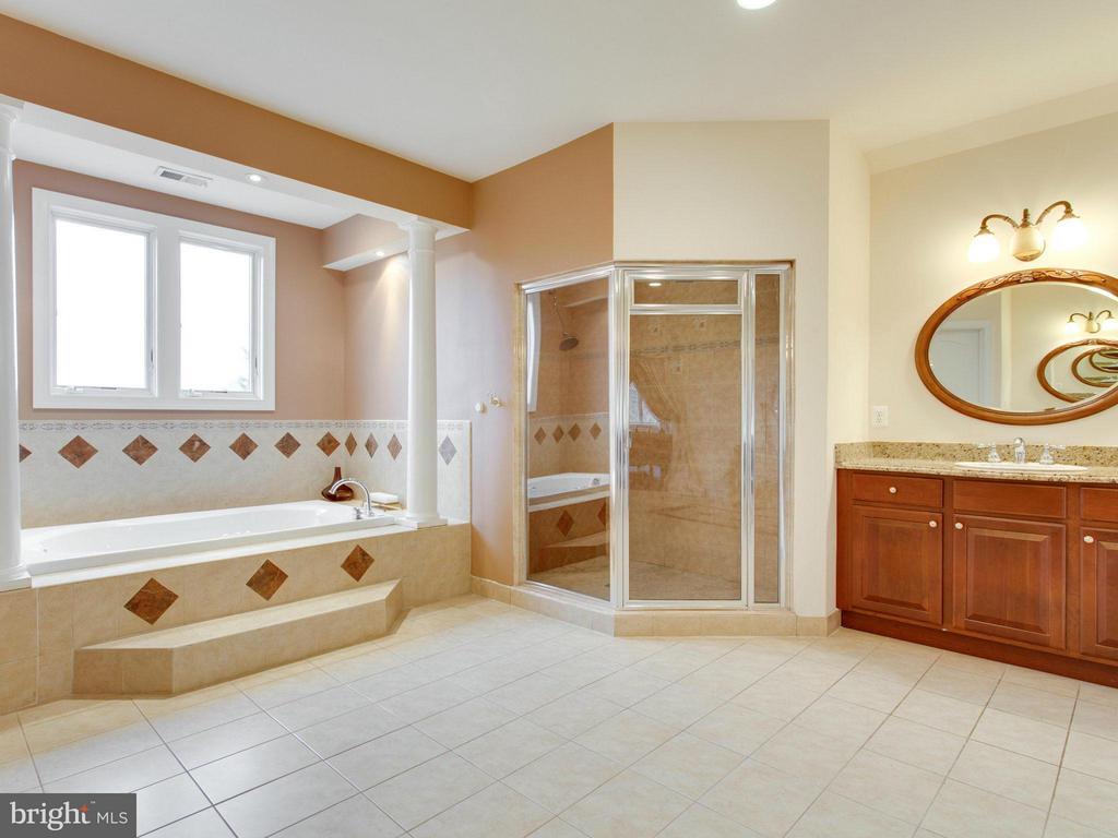 Luxurious Master Bath with Dual Vanities. - 2952 BONDS RIDGE CT, OAKTON