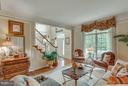 Living Room Overlooks Front Garden. - 11600 FOREST HILL CT, FAIRFAX