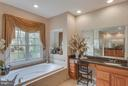 Relaxing Soaking Tub with Art Niche. - 11600 FOREST HILL CT, FAIRFAX