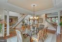 Dual Staircases & Open Interior Vistas. - 11600 FOREST HILL CT, FAIRFAX