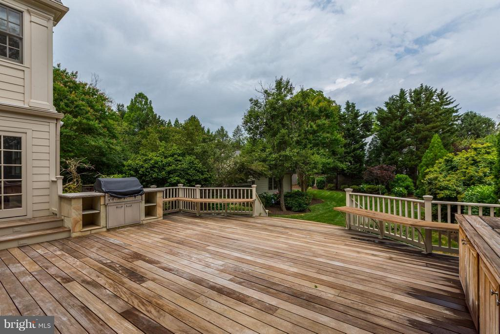 Deck off the Family Room with Outdoor Kitchen - 5107 MOORLAND LN, BETHESDA