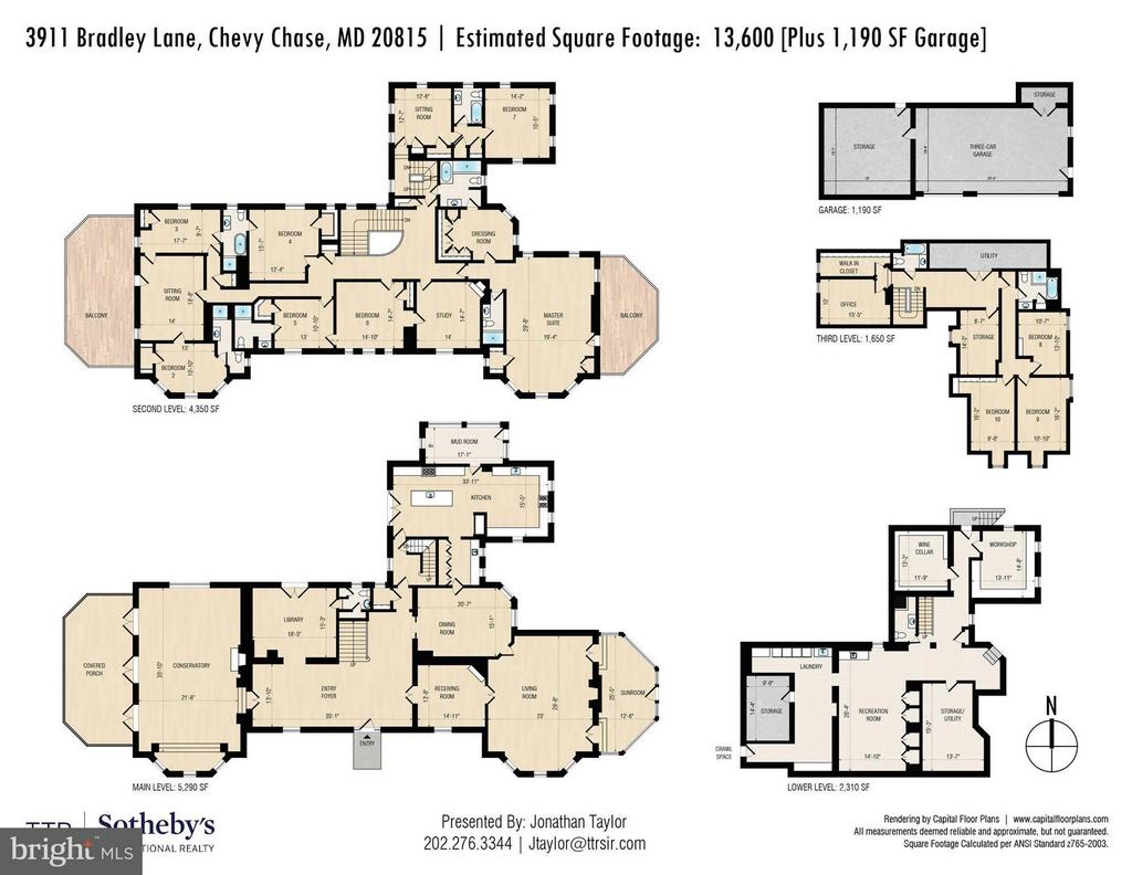 Floor Plan - 3911 BRADLEY LN, CHEVY CHASE