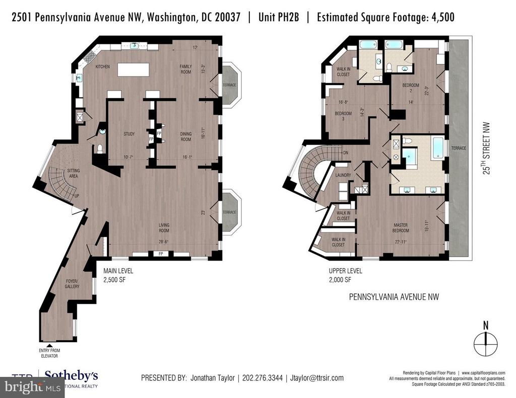 Floor plan - 2501 PENNSYLVANIA AVE NW #PH2B, WASHINGTON