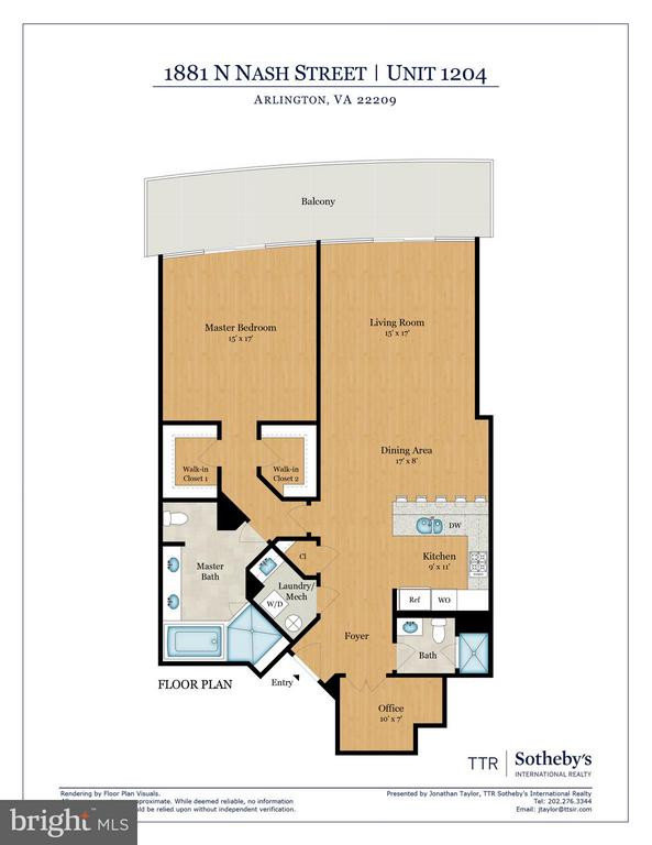 Floor Plan - 1881 NASH ST #1204, ARLINGTON