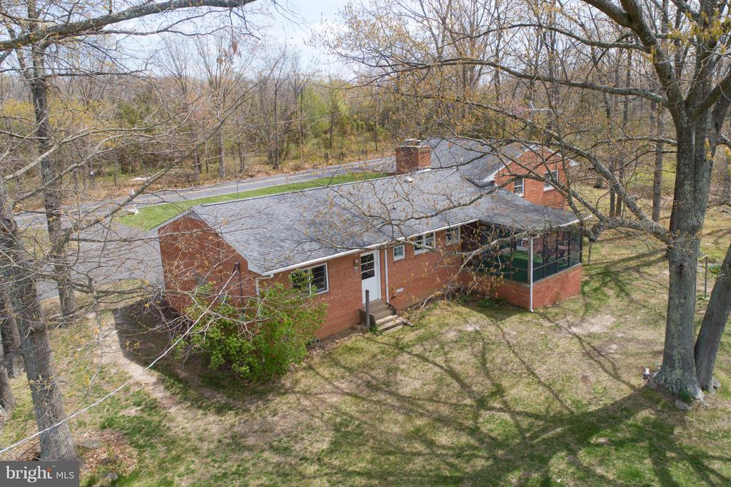 Back of home view - 15411 HERNDON AVE, CHANTILLY