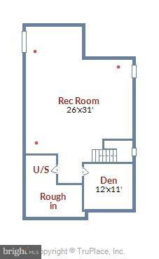 FLOOR PLAN: Lower Level Note Rough In for Bath - 22504 HEMLOCK HILLS PL, CLARKSBURG