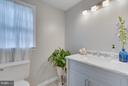 Brand new renovated main level bathroom - 233 WHITMOOR TER, SILVER SPRING