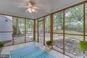 Screened porch opens to private outdoor oasis - 233 WHITMOOR TER, SILVER SPRING