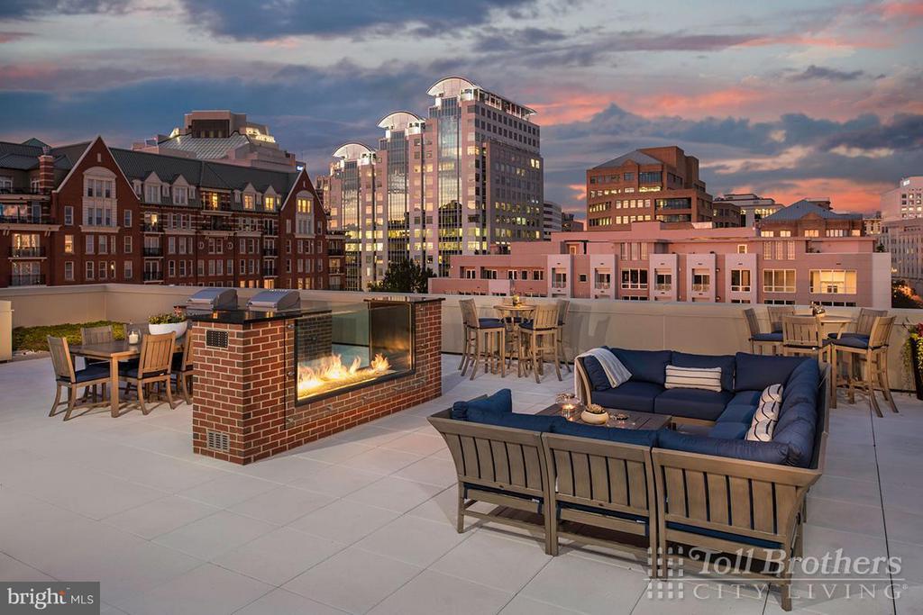 Building Rooftop Terrace - 4915 HAMPDEN LN #405, BETHESDA