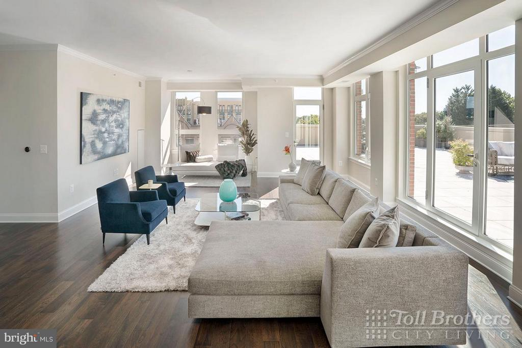 Living Room - 4915 HAMPDEN LN #405, BETHESDA