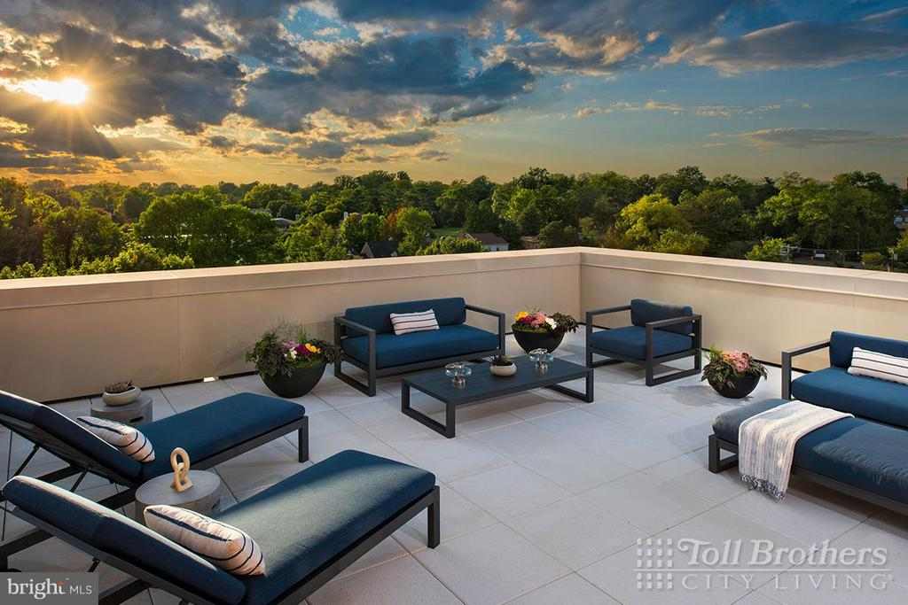 Building Amenities-Rooftop Terrace & Lounge - 4915 HAMPDEN LN #302, BETHESDA