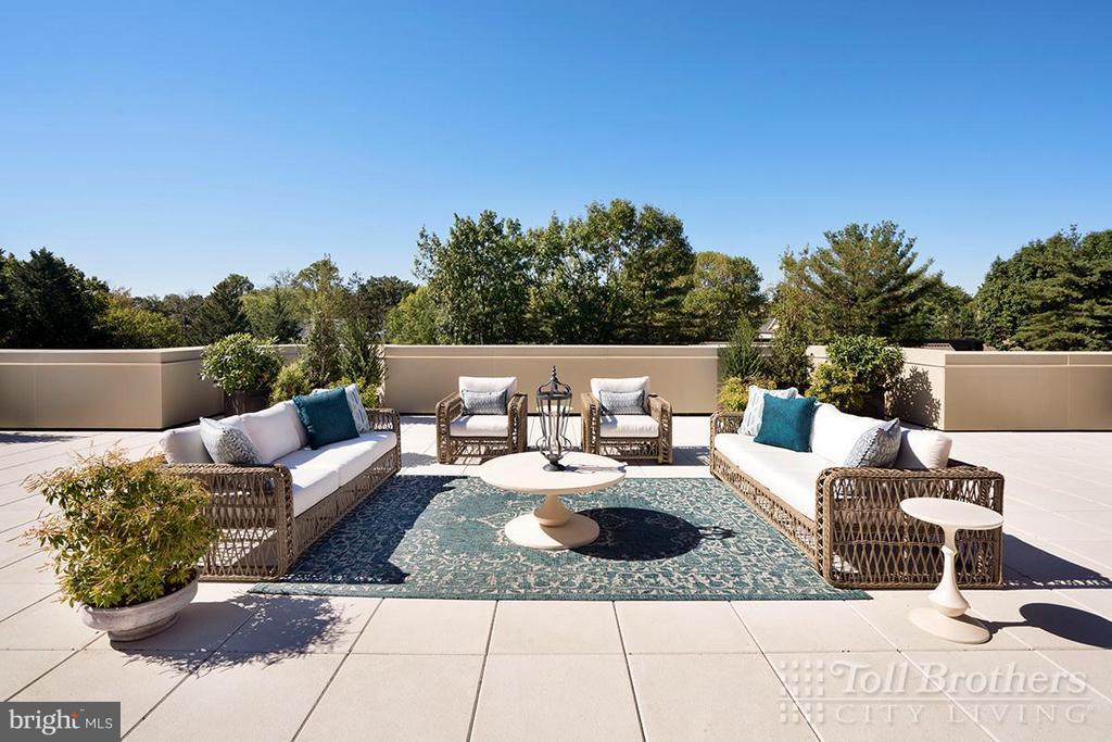 Private Terrace - 4915 HAMPDEN LN #405, BETHESDA
