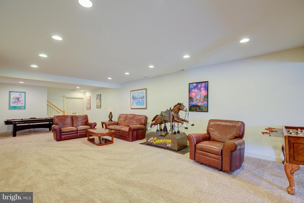 Additional family space in basement - 121 GRANVILLE CT, WINCHESTER
