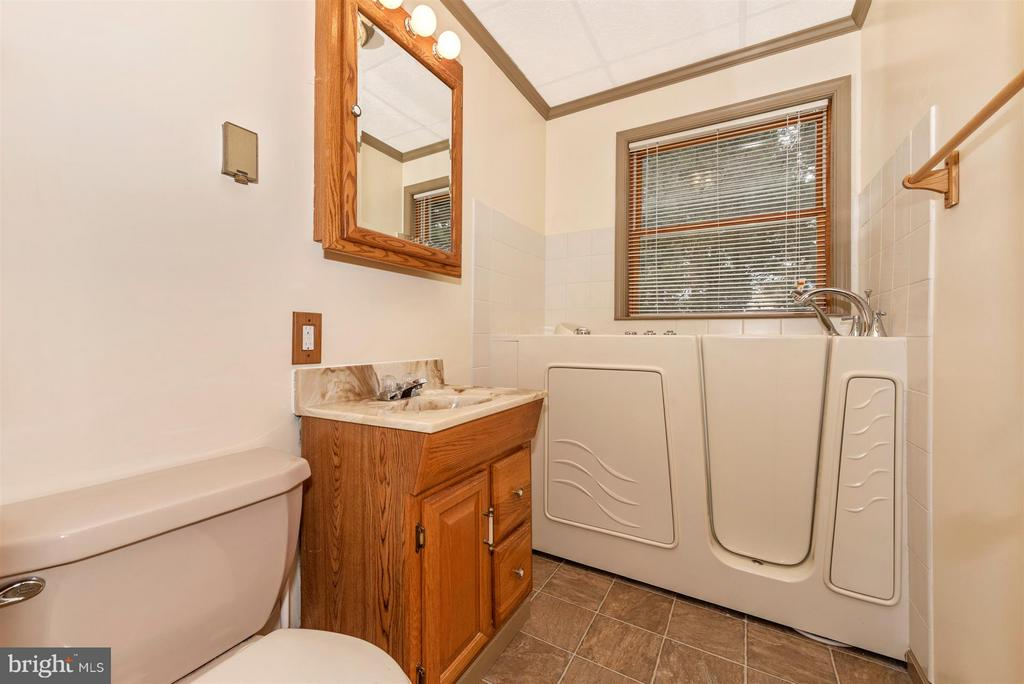 FIRST LEVEL BATH WITH WHIRLPOOL TUB AND JETS - 7433 OLD WASHINGTON RD, WOODBINE