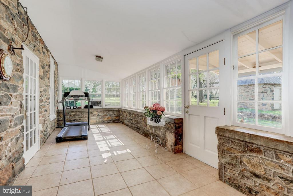 Sun room enclosed porch area. Amazing stone work. - 35676 SNICKERSVILLE TPKE, PURCELLVILLE