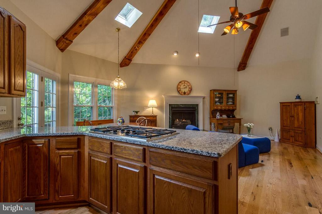 Kitchen with soaring ceilings - 131 WASHINGTON ST, OCCOQUAN
