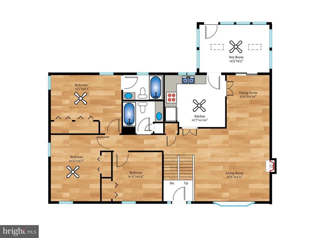 Main Level Floor Plan - 5105 REDWING DR, ALEXANDRIA