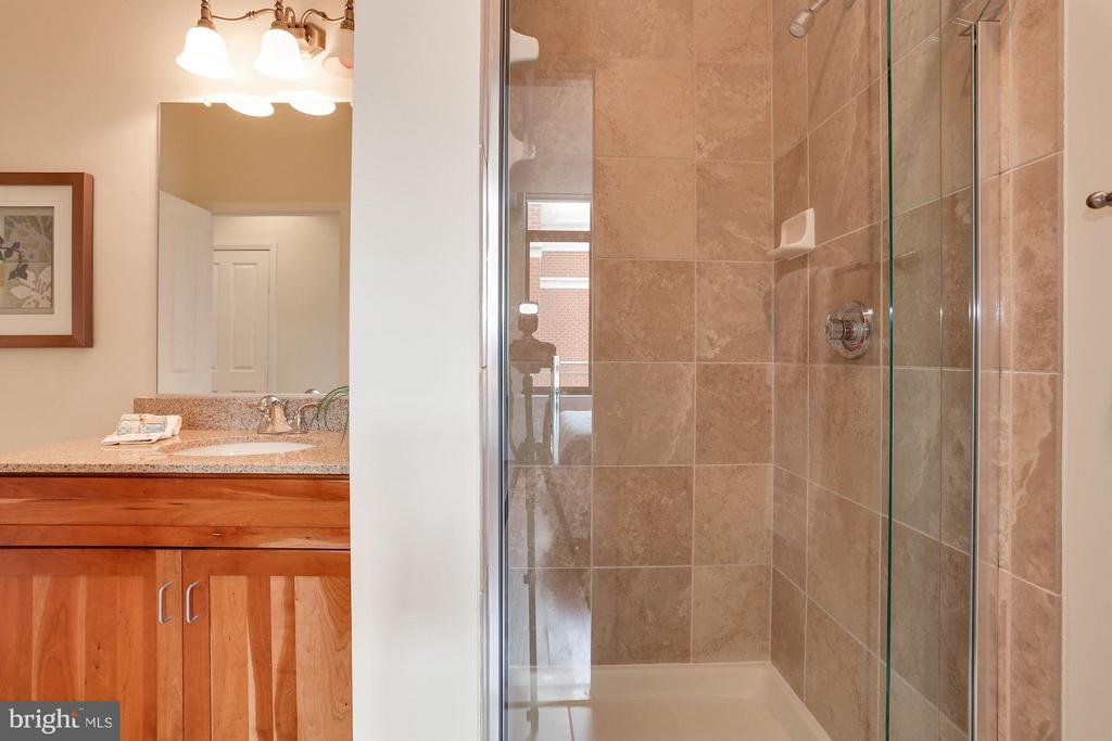 Master Bath with frameless door - 1220 FILLMORE ST #PH11, ARLINGTON