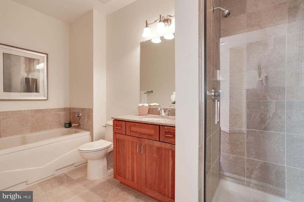 Bath with frameless door - 1220 FILLMORE ST #PH11, ARLINGTON