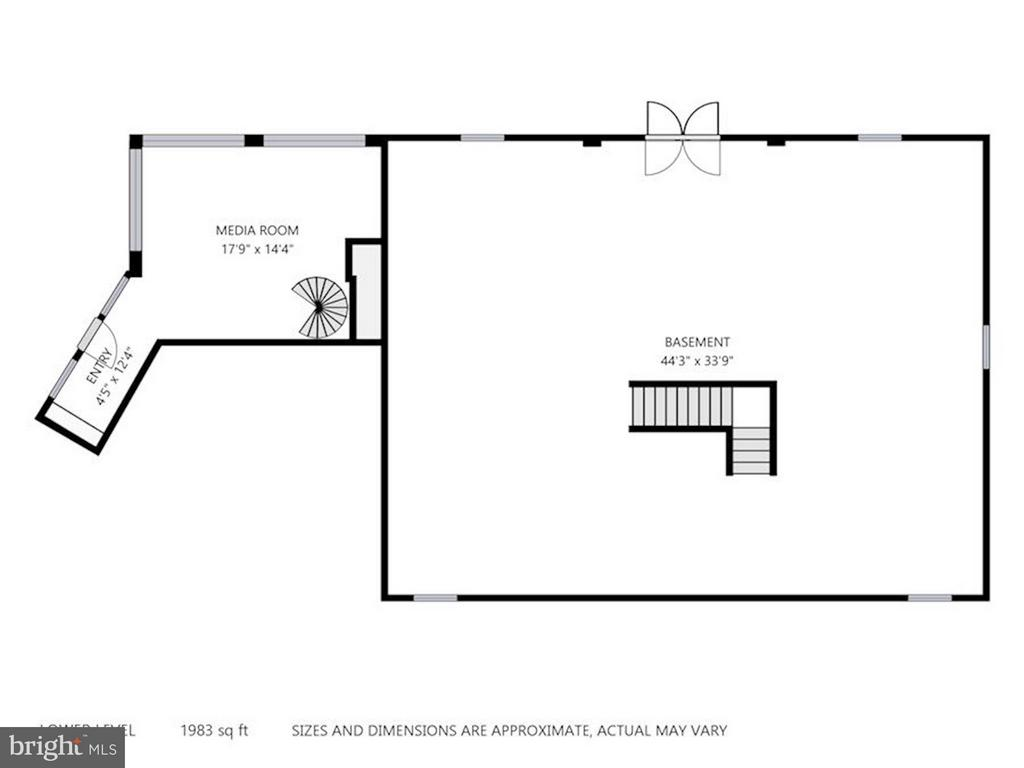 Floor Plan Lower Level - 740 POTOMAC RIVER RD, MCLEAN